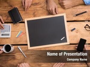 Blackboard close empty placed wooden