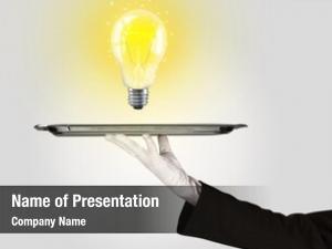 Business serving bright idea concept