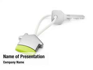 House concept green  house key