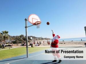 Plays santa claus basket ball