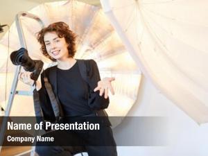 Photo young woman studio freelance
