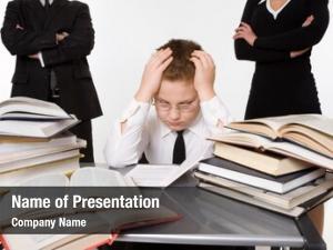 Their parents teaching tired son