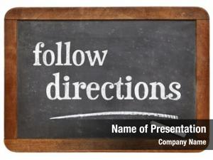 Follow directions powerpoint background