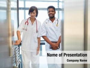 Asian african nurse nurse together