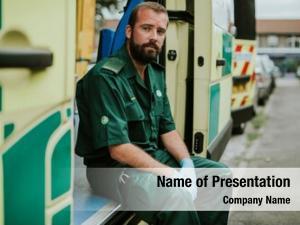 Ambulance paramedics work