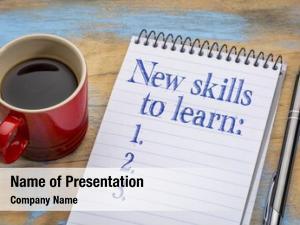 Learn new skills list notebook