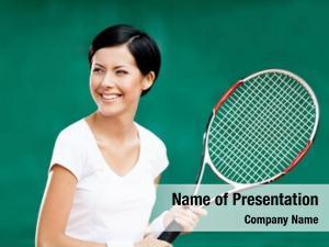 Tennis portrait female player racquet