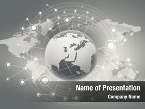 Planet conceptual digital connection lines