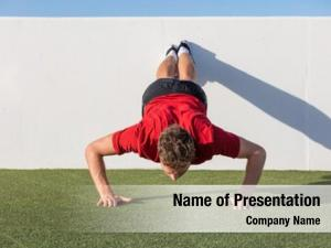 Push up fitness powerpoint theme