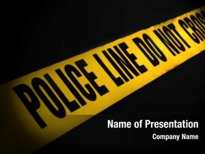 Tape police line black background