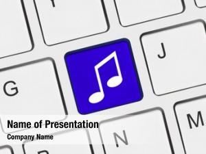 Music computer keyboard key technology