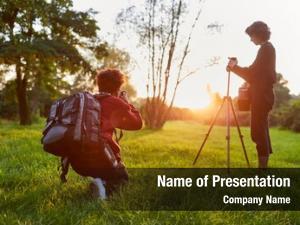 Landscape photographers team photographers sunrise