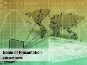 Concept computer technology global reach