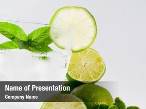 Refreshing limes, summer drink sparkling