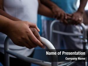 Retirement community cropped hands of nurse
