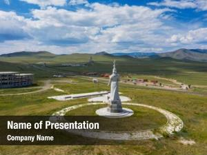Mother statue mongolian huge equestrian