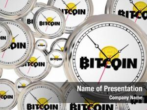 Digital bitcoin cryptocurrency money clocks