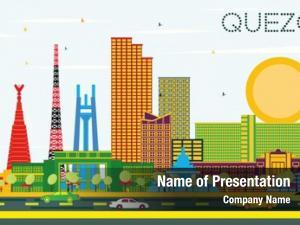 Philippines quezon city city skyline