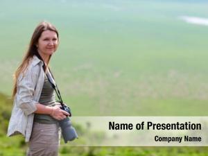 Photographer professional female safari view