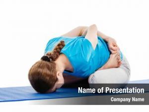 Beautiful yoga young slender woman