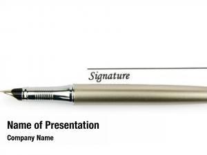 White pen signature