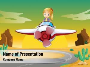 Air detailed girl plane