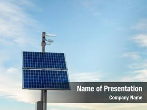 Solar security camera panels against
