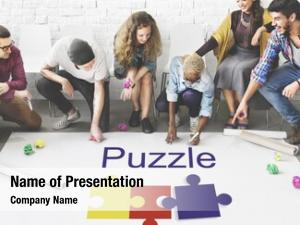 Cooperation puzzle partnership connection concept