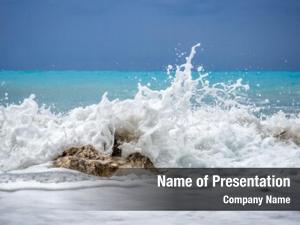 Caribbean tropical blue wave