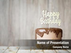 Decorated birthday cake chocolate ganache