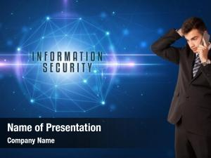 Security businessman thinking solutions information