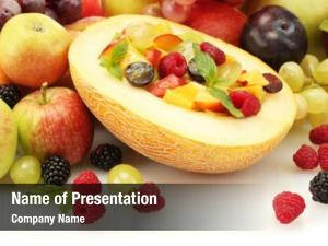 Salad fresh fruits melon, fruits