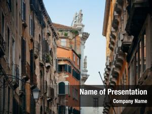 Historical statue roof buildings venice,