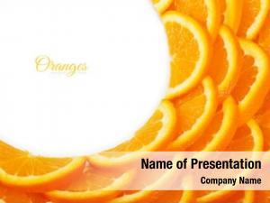 Tropical slices background orange