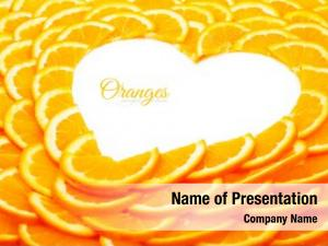 Abstract slices background orange