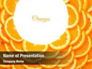Valentine slices background orange