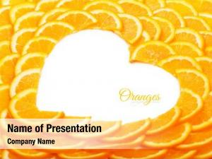Vegetarian slices background orange