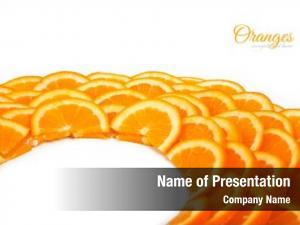 Refreshment slices background orange
