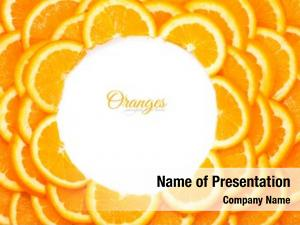 Slices background orange