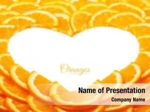 Orange shape heart slices