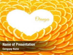 Orange shape heart