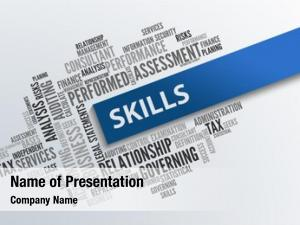 Abstract skills business concept