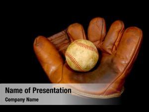 Glove antique baseball baseball black