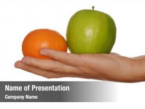 Two apple orange, healthy options
