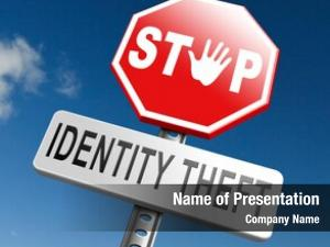 Stop identity theft warning sign
