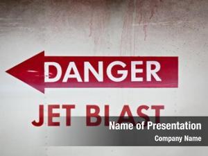 Blast danger jet warning side