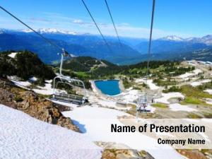 Chairlift spectacular view whistler mountain,