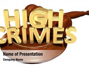High crimes powerpoint template