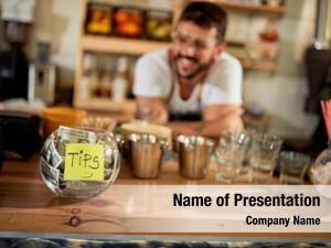 Customer tips satisfied coffee shop