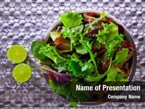 Mediterranean green salad green red